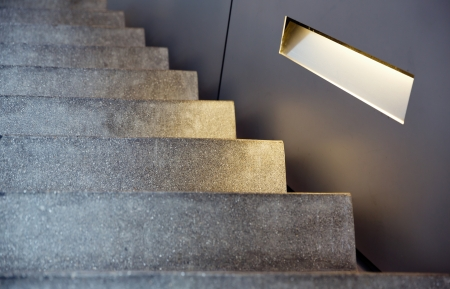 minimalism style stairs with lighting Stock Photo - 20355252