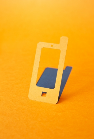 mobile phone paper symbol photo