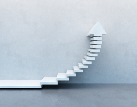 upward graph: stairs going  upward Stock Photo