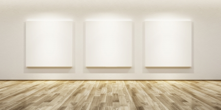 blank pictures in the gallery, 3d rendering photo