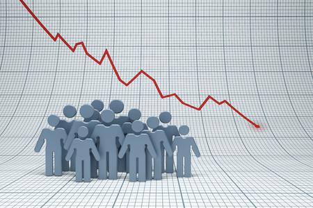 decline: negative trend