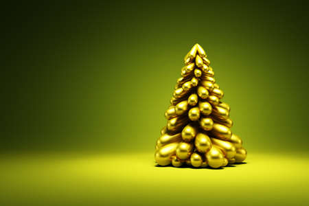 Modern symbolic Christmas tree, 3d render photo