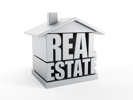 upgrowth: real estate symbol, isolated 3d rendering
