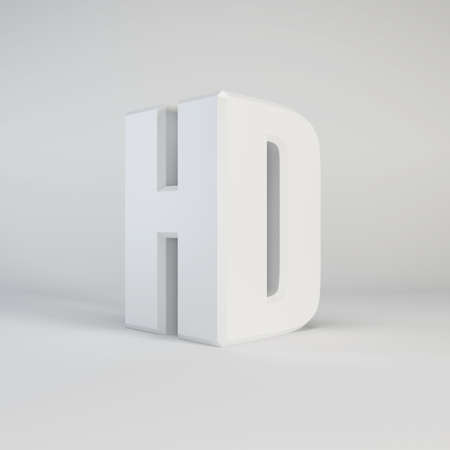hd tv: HD technology symbol, isolated 3d rendering