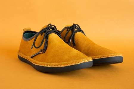 heel strap: male modern style moccasin Stock Photo