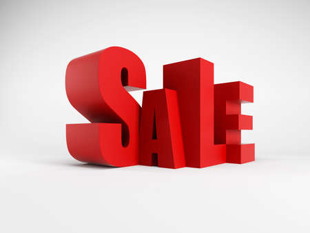 Big sale, isolated 3d rendering photo