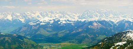 kitzsteinhorn: panaramic view from Kitzsteinhorn glacier, Kaprun, Austria