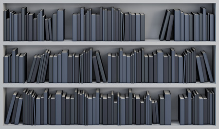 bookcases: bookcase with the books, 3d render Stock Photo