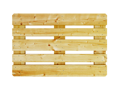 pallet: wooden pallet, isolated on white