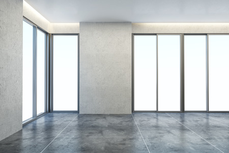 3d rendering the empty office room Standard-Bild