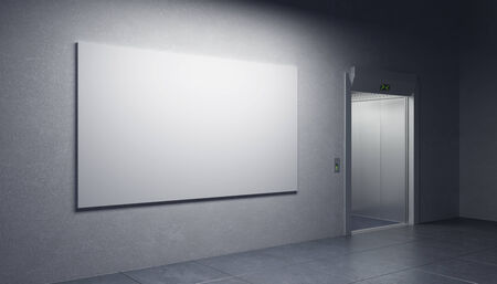 hotel hall: blank picture in the elevators hall