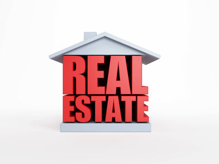 nobody real: real estate symbol, isolated 3d rendering