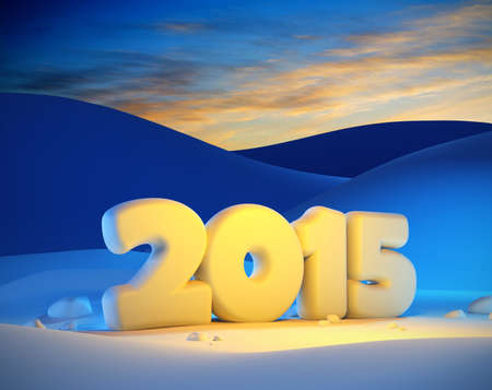 new year 2015, 3d render photo