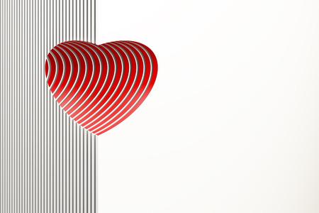 el coraz�n de san valent�n: simb�lico coraz�n rojo de San Valent�n Foto de archivo