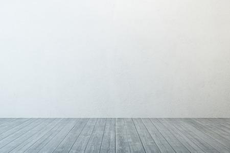 Salle vide avec mur blanc et parquet Banque d'images - 37006476