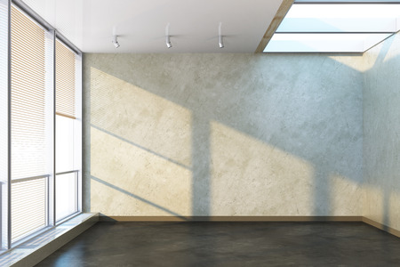 3d rendering of the empty office room