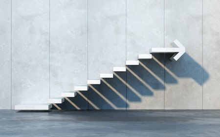 move forward: stairs going  upward Stock Photo