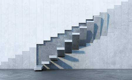 stairs leading upward, architectural composition Standard-Bild