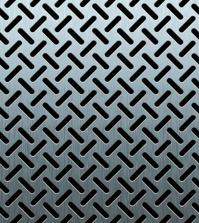 perforated: texture of perforated metal sheet