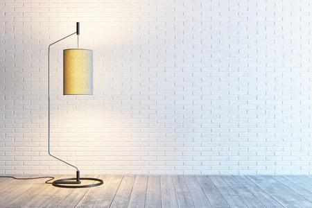 Interni moderni della stanza con lampada da terra Archivio Fotografico - 41077336