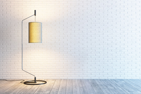 interior lighting: modern interior of the room with floor lamp