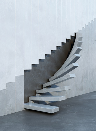 Amazing Stairs Leading Upward Architectural Composition Stock Photo   41008702