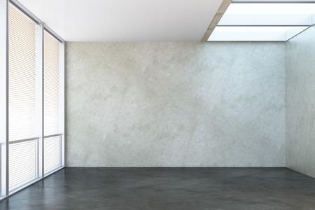3D-rendering van de lege kantoor ruimte Stockfoto