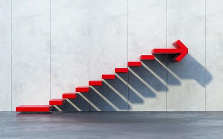 上向きに行く階段 写真素材