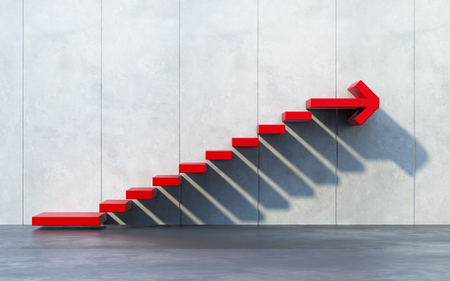 improvement: stairs going  upward Stock Photo