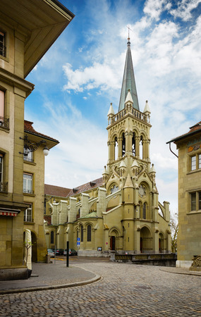 eclecticism: St. Peter and Paul church in Bern, Switzerland Stock Photo