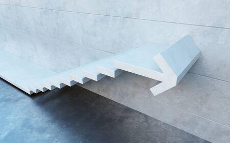 upward movements: stairs going  upward Stock Photo