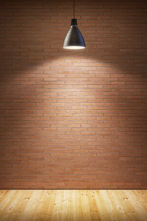 interior walls: empty room with lamp Stock Photo