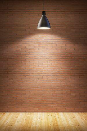 showcase interior: empty room with lamp Stock Photo