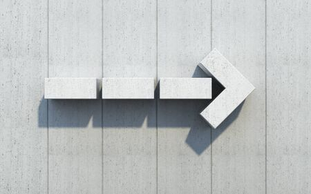 upward movements: concrete arrow show the direction