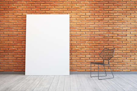 penthouse: room with blank picture and chair Stock Photo