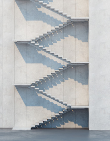 upward: stairs leading upward, architectural composition Stock Photo