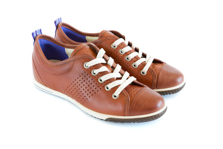 heel strap: isolated unisex modern style jogging shoes