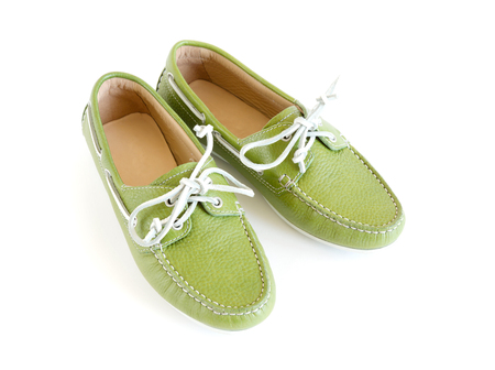 womens modern style green moccasin