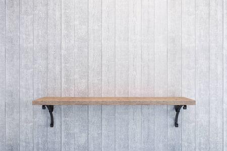 book shelf: empty book shelf on wooden wall