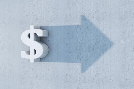 incremento: dólar es crecer Foto de archivo