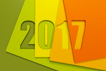 next year: new year 2017, 3d rendering