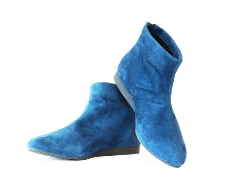 pair womens suede boots