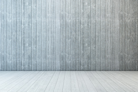 empty room wood with wall and wooden floor