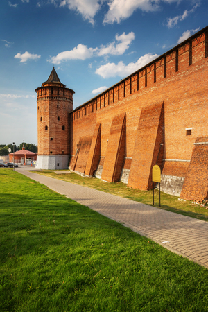 defensive wall and tower of the Kolomna Kremlin, Russia