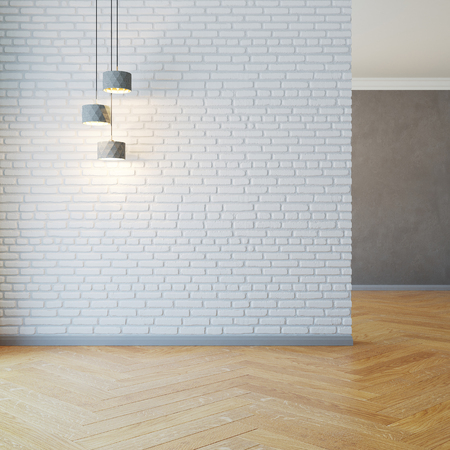 empty room with light, 3d rendering