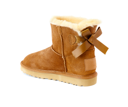 ugg with fur, isolated on white Stock Photo