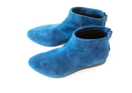blue womens suede boot