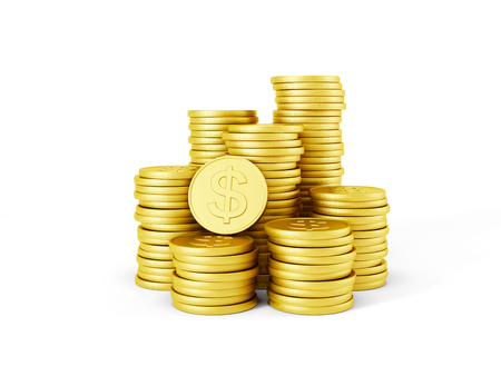 stack of dollar coins