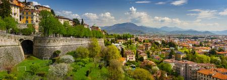 Panoramic view of Bergamo, Italy Stock Photo