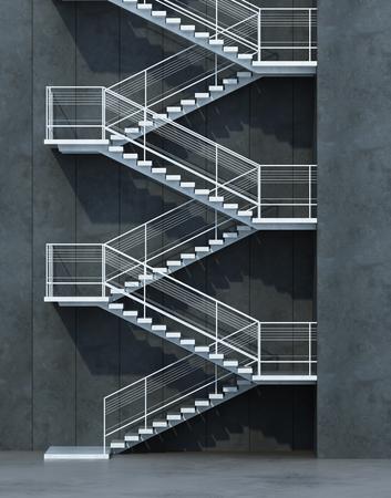 stairs leading upward, 3d rendering